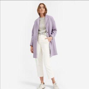 Everlane Cocoon Wool-Blend Lavender Coat